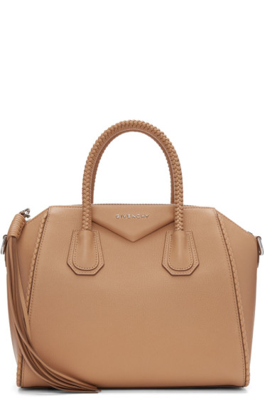 Givenchy - Tan Small Braided Antigona Bag