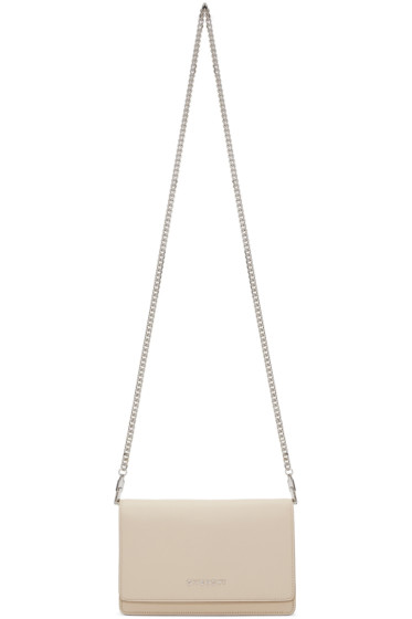 Givenchy - Beige Pandora Wallet Chain Bag