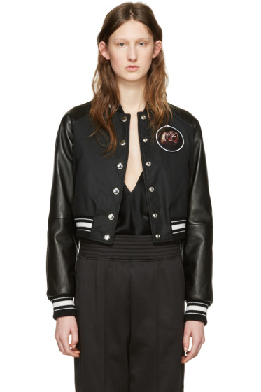 Givenchy - Black Waxed Cotton Monkey Brothers Bomber