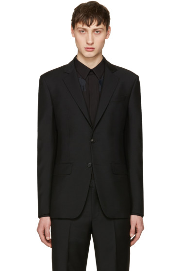 Givenchy - Black Slim Two-Button Blazer