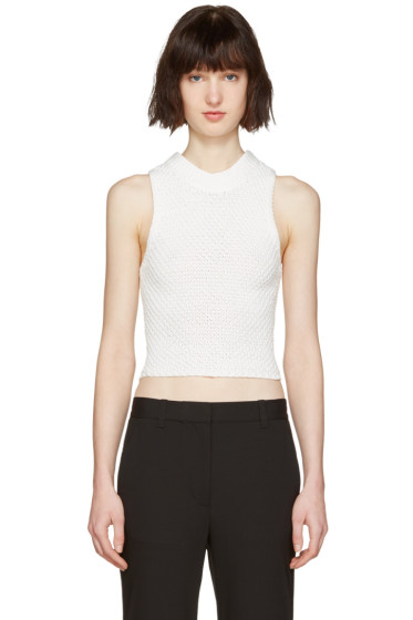 3.1 Phillip Lim - White Crochet Back Top