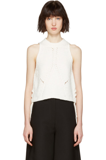 3.1 Phillip Lim - White Pointelle Top
