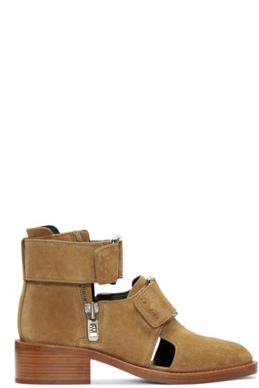3.1 Phillip Lim - Tan Suede Addis Boots