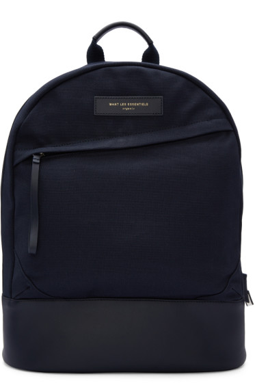 Want Les Essentiels - Navy Canvas Kastrup Backpack