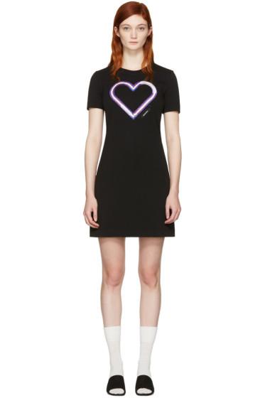 Carven - Black Neon Heart Dress