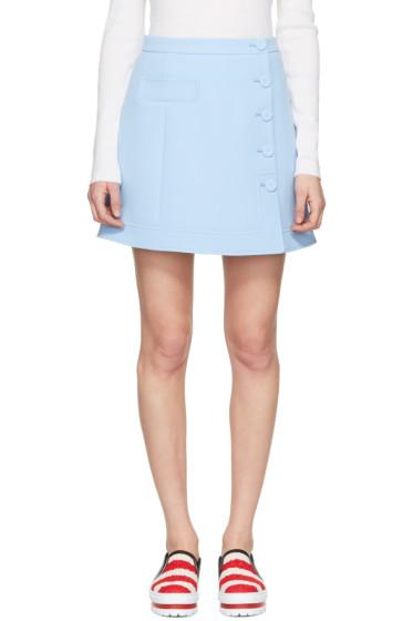 Carven - Blue Button Miniskirt