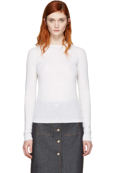 Carven - Ivory Ribbed Pullover