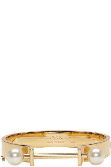 Chloé - Gold Darcey Bar Bracelet
