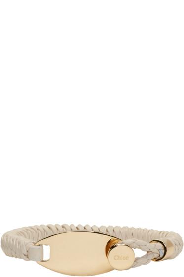 Chloé - Beige Leather Cord Bracelet
