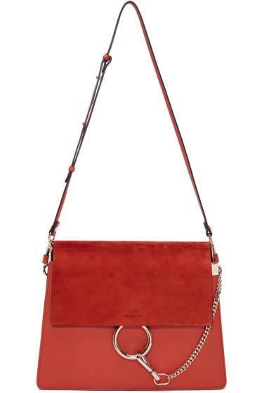 Chloé - Red Medium Faye Bag