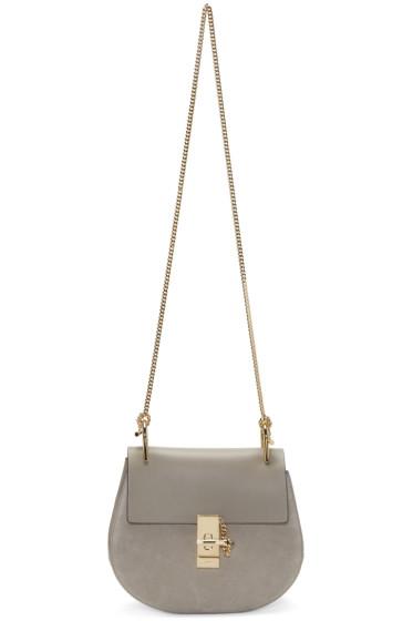 Chloé - Grey Small Drew Saddle Bag