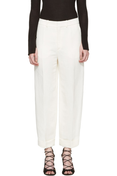 Chloé - Ivory Cuffed Trousers