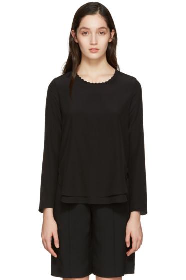Chloé - Black Scalloped Collar Blouse