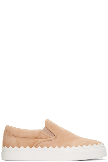 Chloé - Beige Ivy Slip-On Sneakers