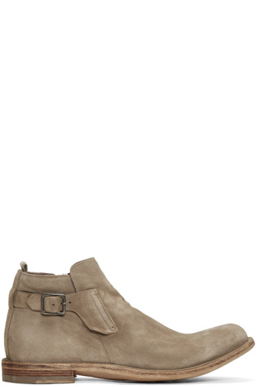 Officine Creative - Taupe Ideal 26 Buckle Boots