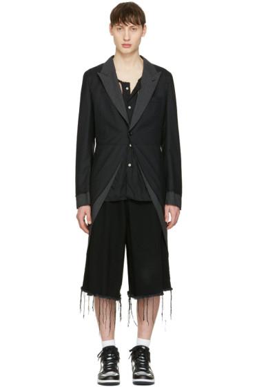 Comme des Garçons Homme Plus - Black Asymmetric Coat
