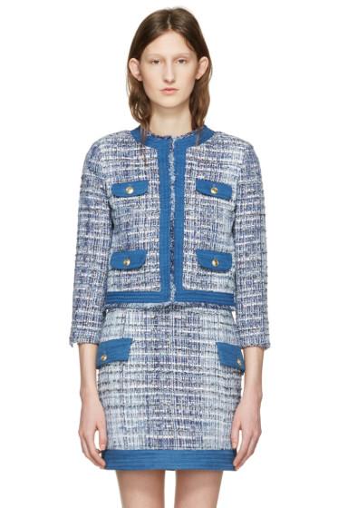 Pierre Balmain - Blue Tweed Blazer