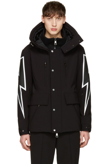Neil Barrett - Black Thunderbolt Ski Jacket