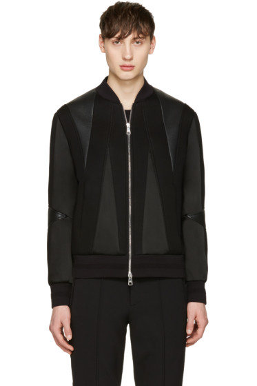 Neil Barrett - Black Panelled Bomber Jacket