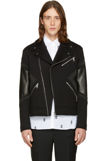 Neil Barrett - Black Panelled Biker Jacket