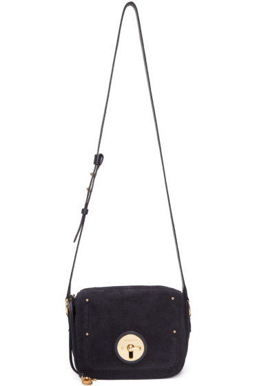 See by Chloé - Navy Suede Lois Bag