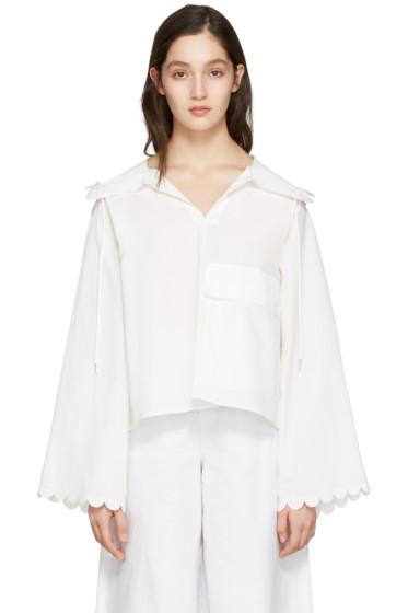 See by Chloé - White Poplin Pocket Jacket