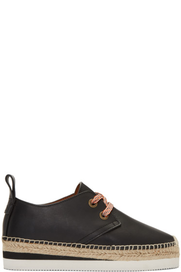 See by Chloé - Black Leather Glyn Espadrilles