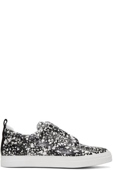 Pierre Hardy - Black & White Slider Slip-On Sneakers