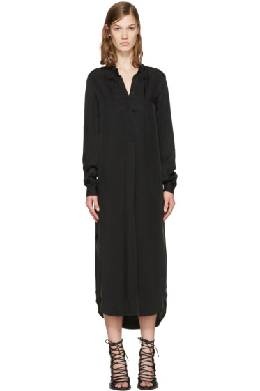Ann Demeulemeester - Black Long Shirt Dress