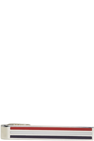 Thom Browne - Silver Classic Horizontal Long Tie Bar