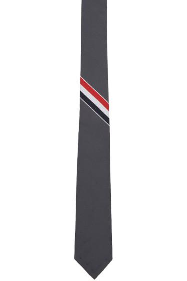 Thom Browne - Grey Classic Stripe Tie