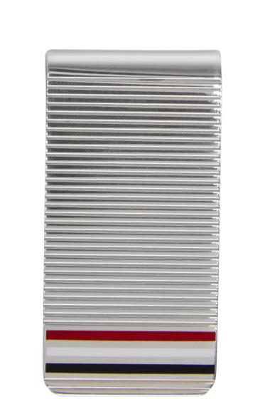Thom Browne - Silver Striped Money Clip