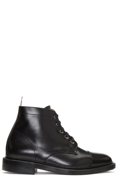 Thom Browne - Black Cropped Derby Boots
