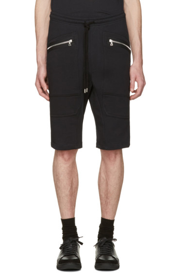 Markus Lupfer - Black Zip Pockets Lounge Shorts