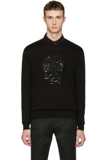 Markus Lupfer - Black Sequin Skull Pullover