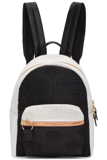 Kenzo - Black & White Kombo Backpack