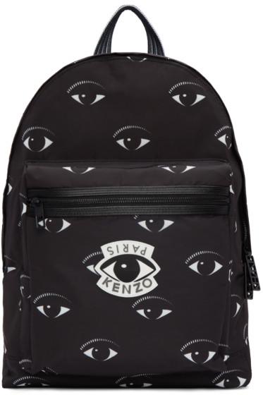 Kenzo - Black Allover Eye Backpack