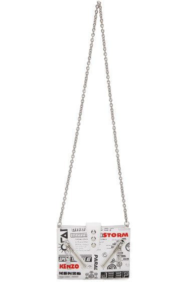 Kenzo - White Flyers Kalifornia Chain Wallet Bag