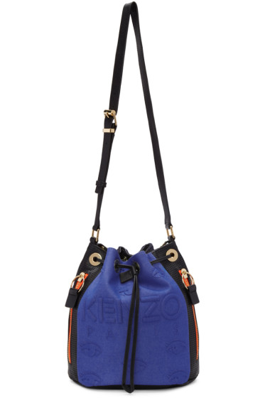 Kenzo - Blue & Black Kombo Bucket Bag