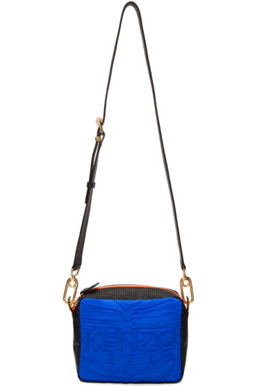 Kenzo - Blue & Black Kombo Shoulder Bag