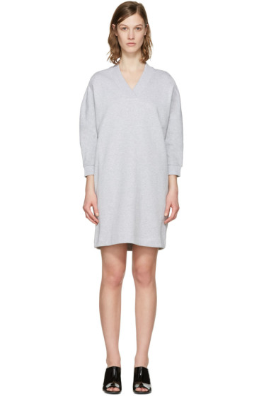 Kenzo - Grey V-Neck Logo Dress