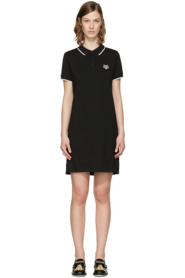 Kenzo - Black Tiger Polo Dress