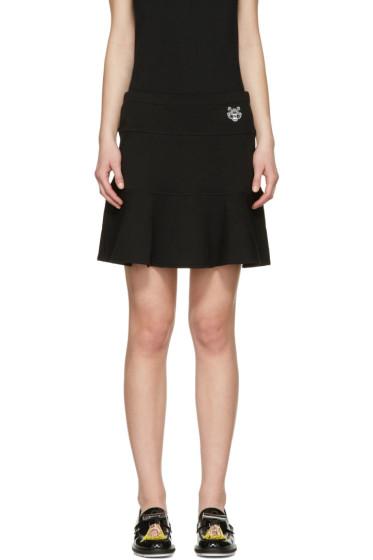 Kenzo - Black Tiger Crest Miniskirt
