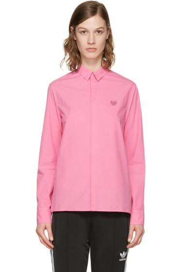 Kenzo - Pink Embroidered Tiger Shirt