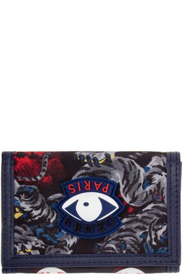 Kenzo - Grey Trifold Eye Wallet