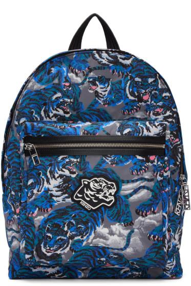 Kenzo - Blue Flying Tiger Backpack
