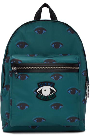 Kenzo - Green Allover Eyes Backpack