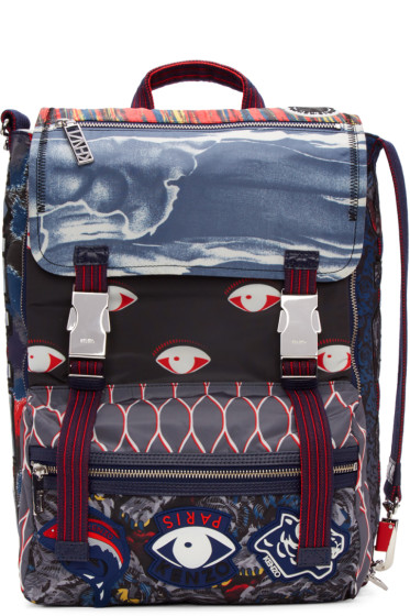Kenzo - Multicolor Icons Backpack