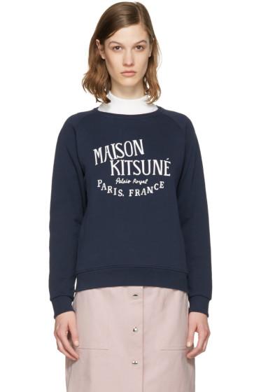 Maison Kitsuné - Navy Logo Pullover