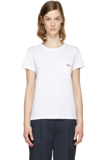 Maison Kitsuné - White Fox Patch T-Shirt